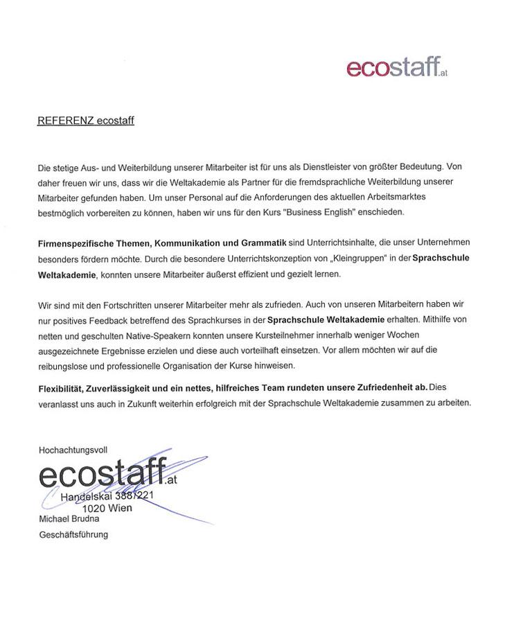 Ecostuff lernt Sprachen bei der Weltakademie